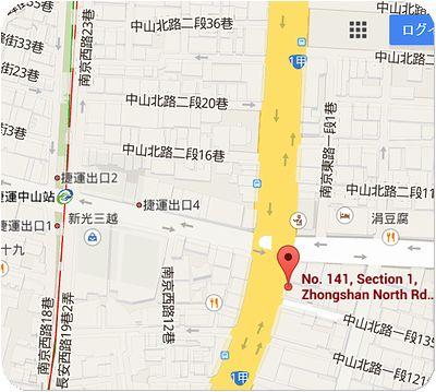 屯京拉麵地図