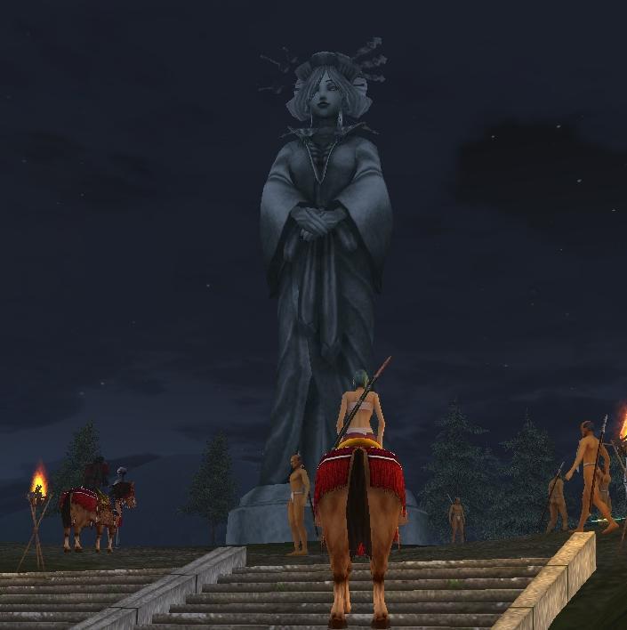 桃源郷の神像