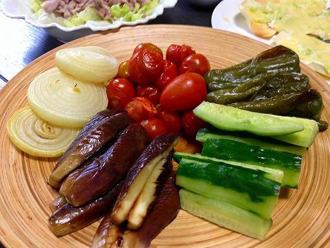 夏野菜ホットサラダ