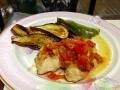 ミニトマトソースで白身魚