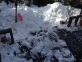雪おろし中
