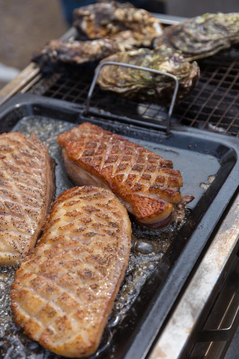 BBQ焼かれる食材(1)
