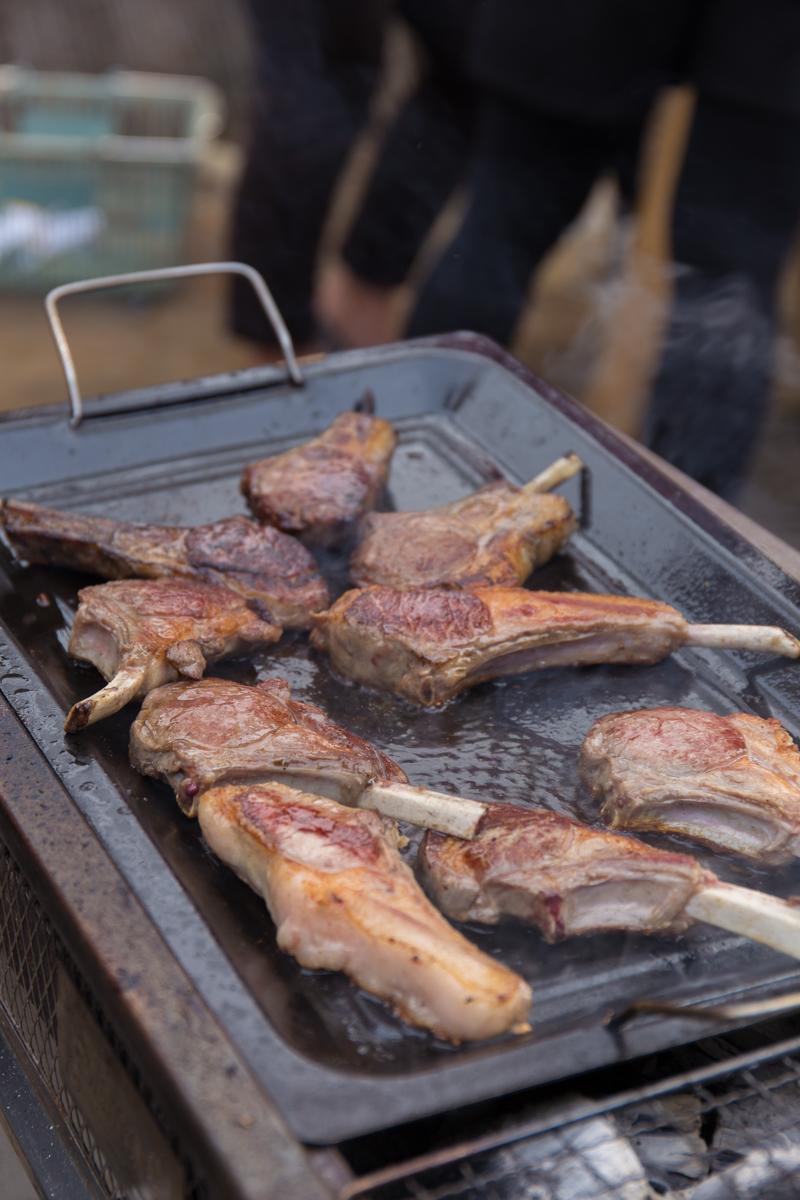 BBQ焼かれる食材(4)