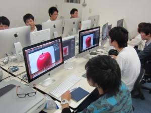 デジタルでリンゴ描写1