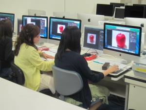 デジタルでリンゴ描写2