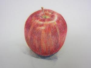 リンゴ色鉛筆7