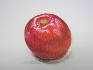 リンゴ色鉛筆9