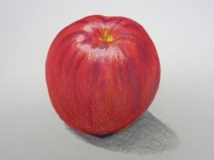 リンゴ色鉛筆3