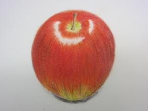 リンゴ色鉛筆2