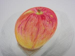 リンゴ色鉛筆5