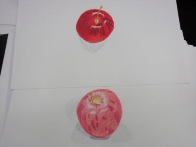 リンゴ色鉛筆1