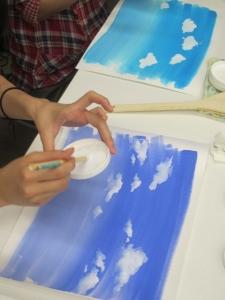 アニメの空と雲1