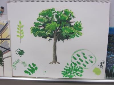 アニメの背景 樹木