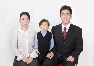 受験用家族写真