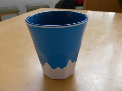 富士山のさかさの湯飲み茶わん