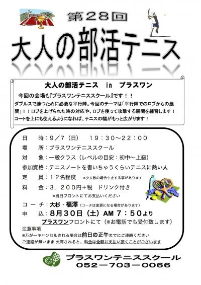 第28回大人の部活テニス 2014年8月 Sheet1
