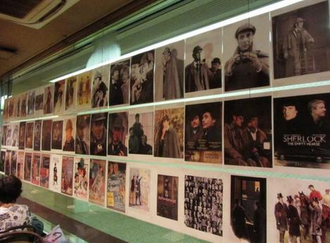 20140824壁の写真パブ・シャーロックホームズ