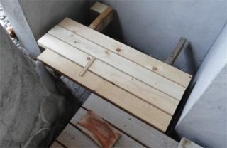 201406露天風呂デッキ拡張工事 デッキ材セット