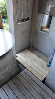 201406露天風呂ウッドデッキ拡張工事 完成