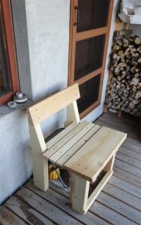 201407 あり材で椅子を作ってみた