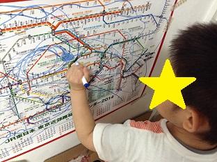 路線図カレンダー