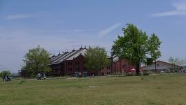 20140428芝生と赤レンガ倉庫