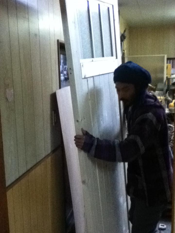 玄関ドア作り1