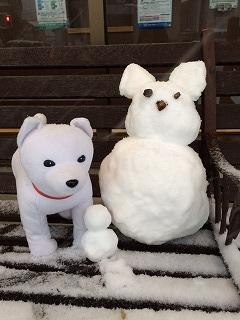 0218雪だるまとお父さん