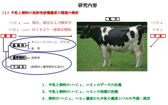 牛乳と飼料