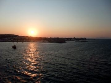 クルーズ174ロードス島夕陽