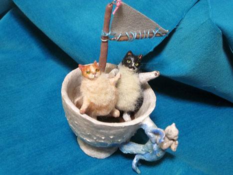 デミタスカップ号と豆猫兄弟