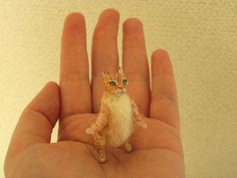 姿勢のいいオレンジ猫