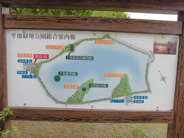 平池緑地公園案内板