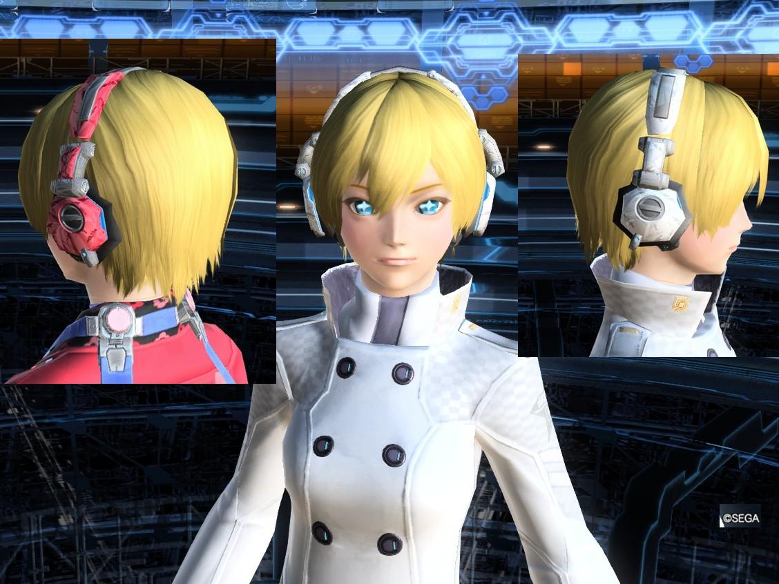 「サイバーヘッドフォン」 現代っぽい服装に似合います。 あと、キャス子で服着るときに耳隠せますね。 プリムヘッドフォンは大きすぎるので、サイバーのほうが好き