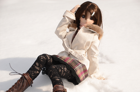 小隠里@雪の妖精、かやぶきの里へ