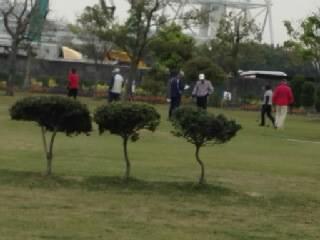 ゲートボールをしている老人達3