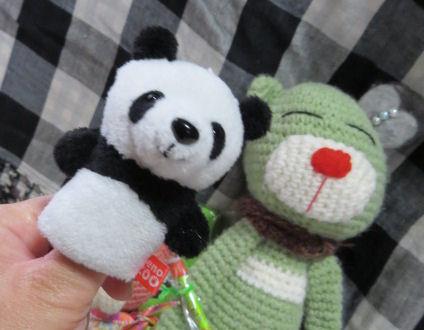 パンダの指人形可愛い♪