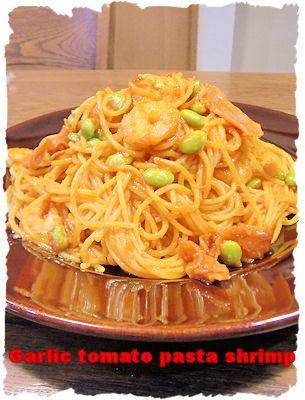 Garlic tomato pasta shrimp
