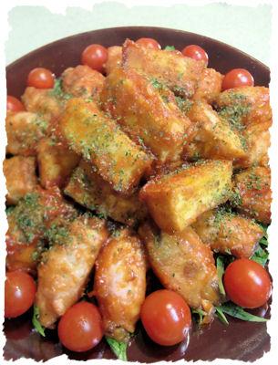 椎茸肉巻きソテー トマトケチャップ風味