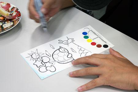亀川郵便局_絵手紙体験イベント02