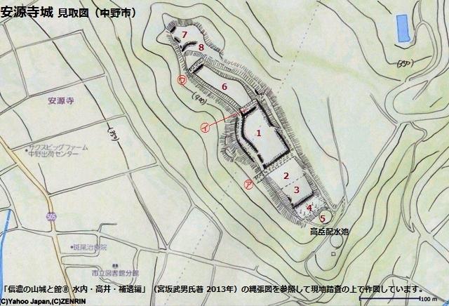 安源寺城見取図①(中野市)