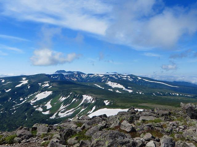 緑岳頂上から