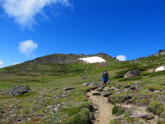 白雲岳への道