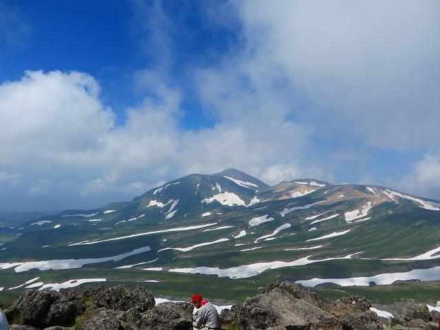 白雲岳頂上