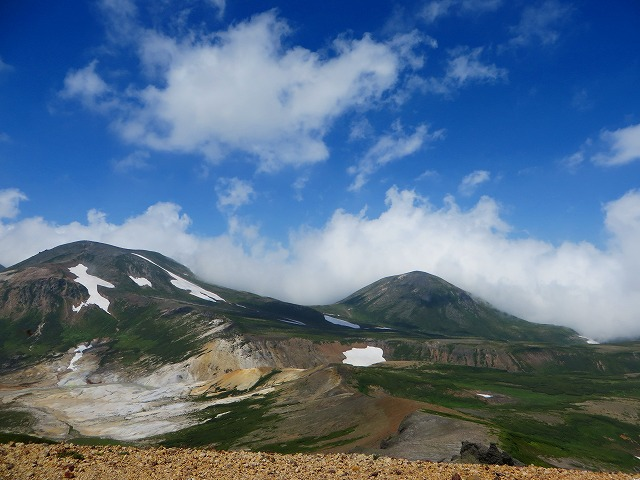 北鎮岳と凌雲岳
