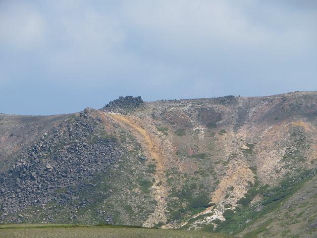 裏から見た赤岳