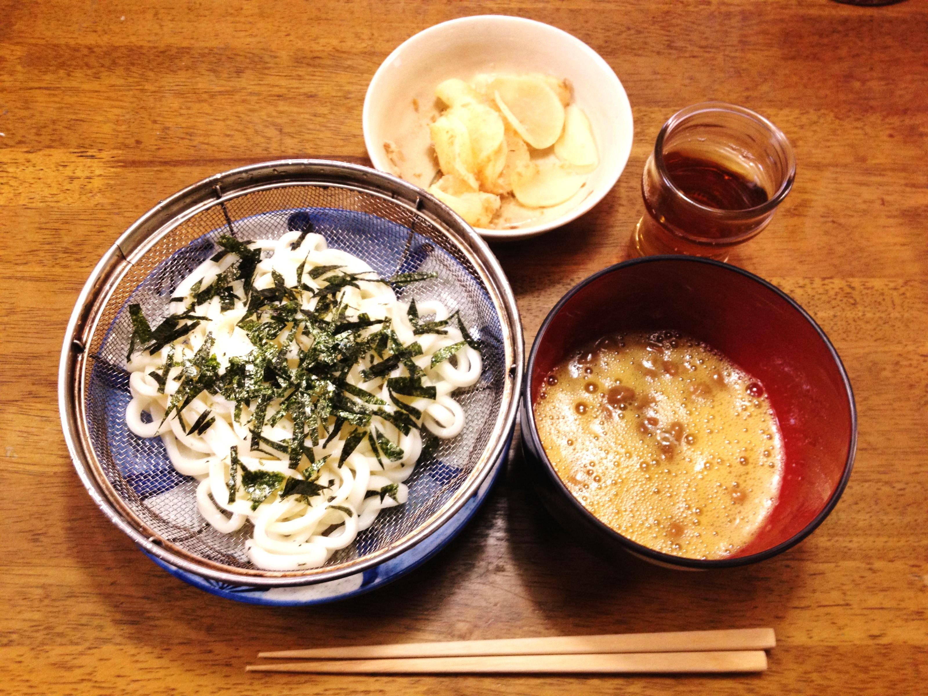 納豆うどん定食