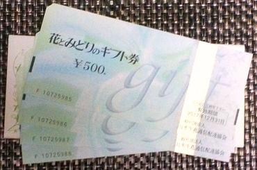 花とみどりのギフト券2000円分