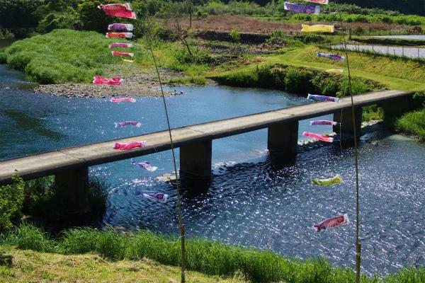 高樋の沈下橋とこいのぼり