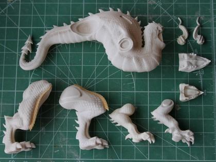 ドラゴンズクラウン レッドドラゴン出力原型(脱脂後)